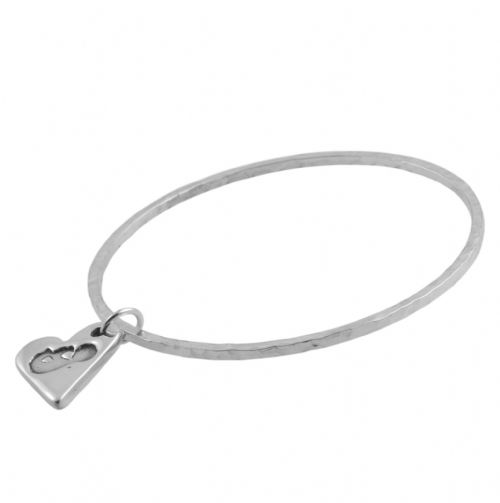 Sliver Baby Scan Bangle